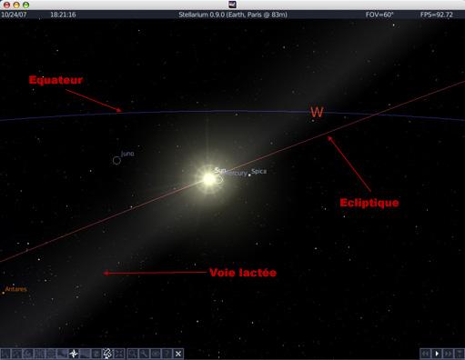 Alignement galactique en 2012